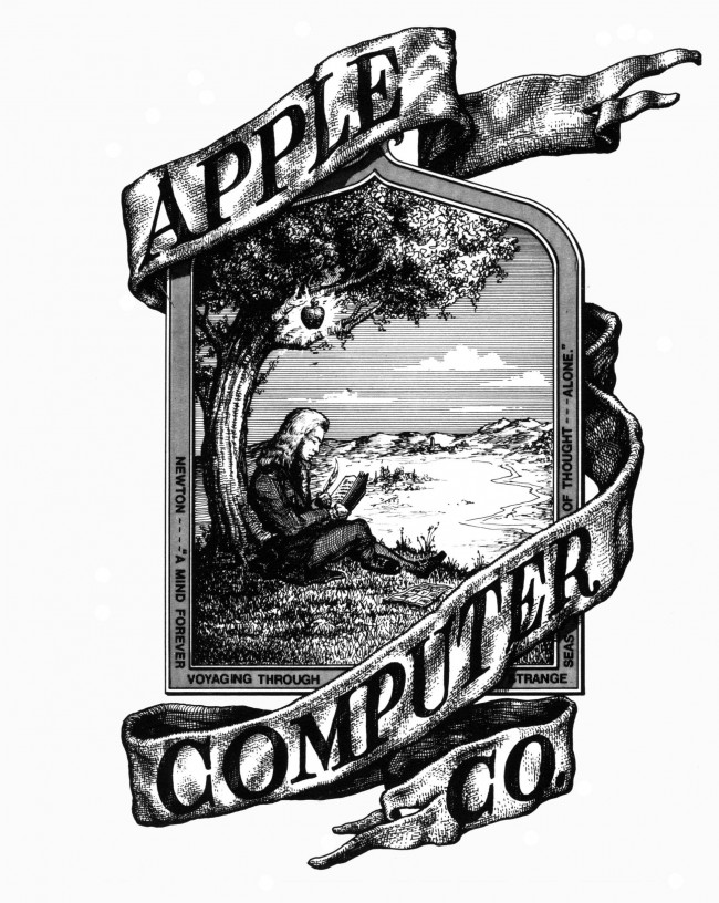 The First Apple Logo Source Wikipedia